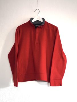 Nautica 1/4 zip sweater red