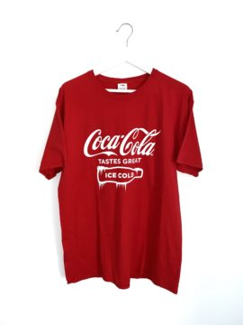 t-shirt coca cola rouge