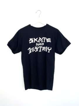 t-shirt thrasher skateboard noir