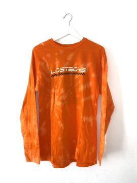 Longsleeve orange tie dye